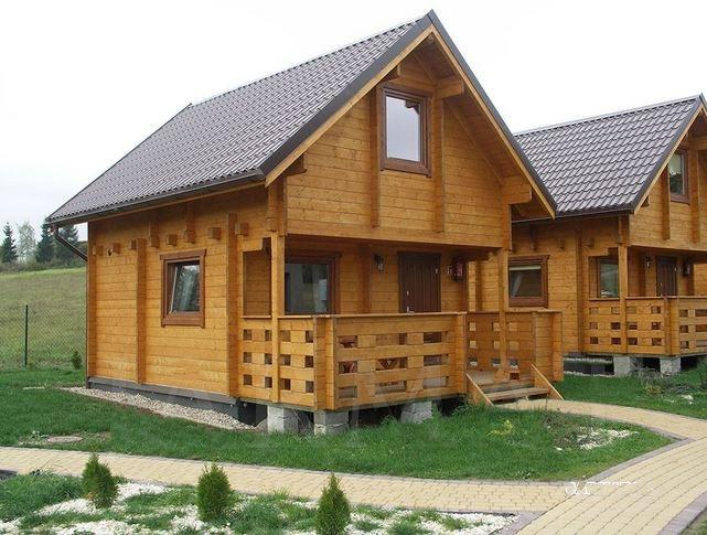 chalet di legno l 35 b block house case di legno