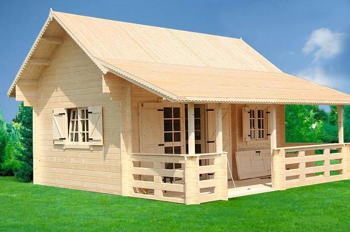 Trendy chalet di legno l with case di legno abitabili for Bungalow in legno abitabili prezzi